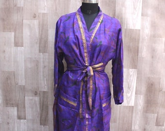 Adult Style Pure Silk Bridal Robes - Pure Silk Night Robe - Dressing Gown -  Soft Bridesmaid Robes Bachelor Gift - Robes  KPS020 6eed7f75f