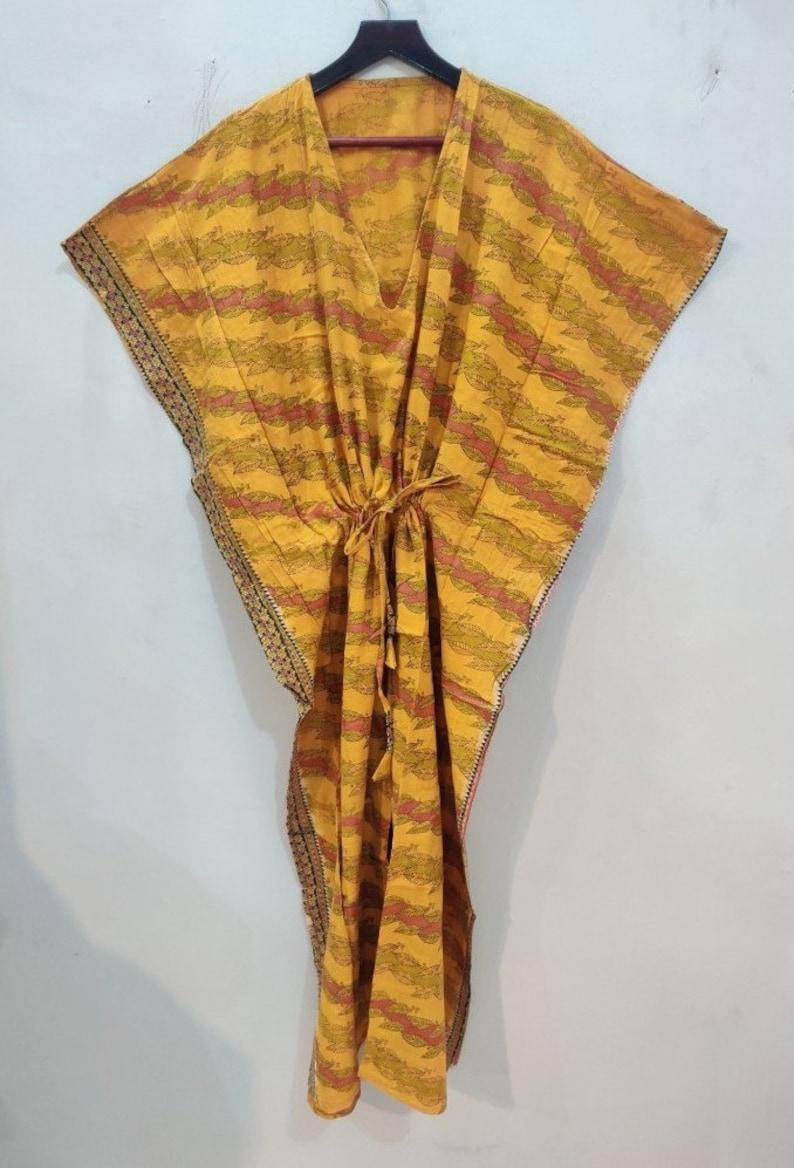 beach cover up For to be Moms Yellow Kaftan Cotton Kaftan Best Gift for her Long Kaftan # KAFTAN 80 Sleepwear long dress kaftan