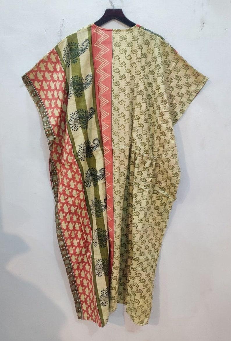 100/%Cotton Long Kaftan,Floral Printed Caftan,Party Wear Dress,Indian Tunic Summer Clothing,Saree Caftan.Comfortable kaftan #KAFTAN 107