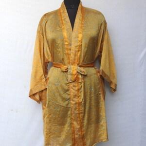 Women Luxury Mid Calf Smooth Robe Robe with Elegant Bridal Wear Bridesmaid Wedding kimono High-quality Lingeries #MKS 120
