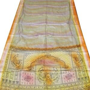Indian Traditional Sari Vintage Floral Silk Sari 5 Yard Women/'s Garment Silk Saree Fabric Long Vintage Silk Sari Fabric Floral Saree #N80