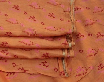100% Pure Silk Sari Silk Fabric Dressmaking Fabric Pure Silk Saree Beautiful Vintage Pure Silk Sari Dressmaking Fabric Craft Sari #PSTIC 678