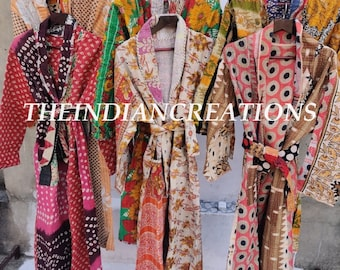 LOT Vintage Kantha Women Jacket Quilted Jacket Hand Crafted Cotton Long Boho, Hippie, Women Long Coat Ladies Winter Jacket, ASSORTED JACKETS