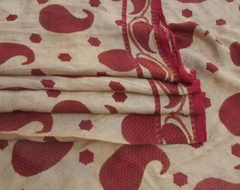 Vintage Pure Silk Sari Indian Traditional Culture Sari 5 Yard Women Dress Fabric Decorative Ethnic Crafts Fabric Hippie Sari Used #PSTIC 659