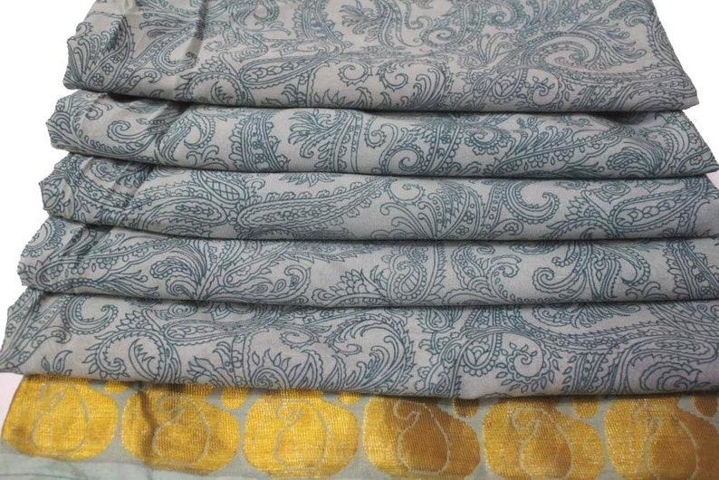 Indian Traditional Sari Vintage Floral Silk Sari 5 Yard Women/'s Garment Silk Saree Fabric Long Vintage Silk Sari Fabric Floral Saree #N60