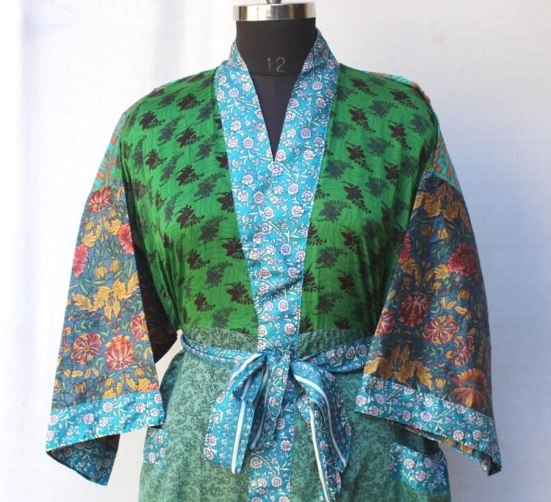 Women Luxury Long Smooth Silk Robe Robe with Elegant Bridal Wear Bridesmaid Wedding kimono High-quality Lingeries #MK 674