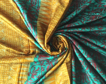 Vintage Saree, Women Wear 100% Pure Silk Saree 5 Yard Silk Fabric Silk Sari #PSTIC 358