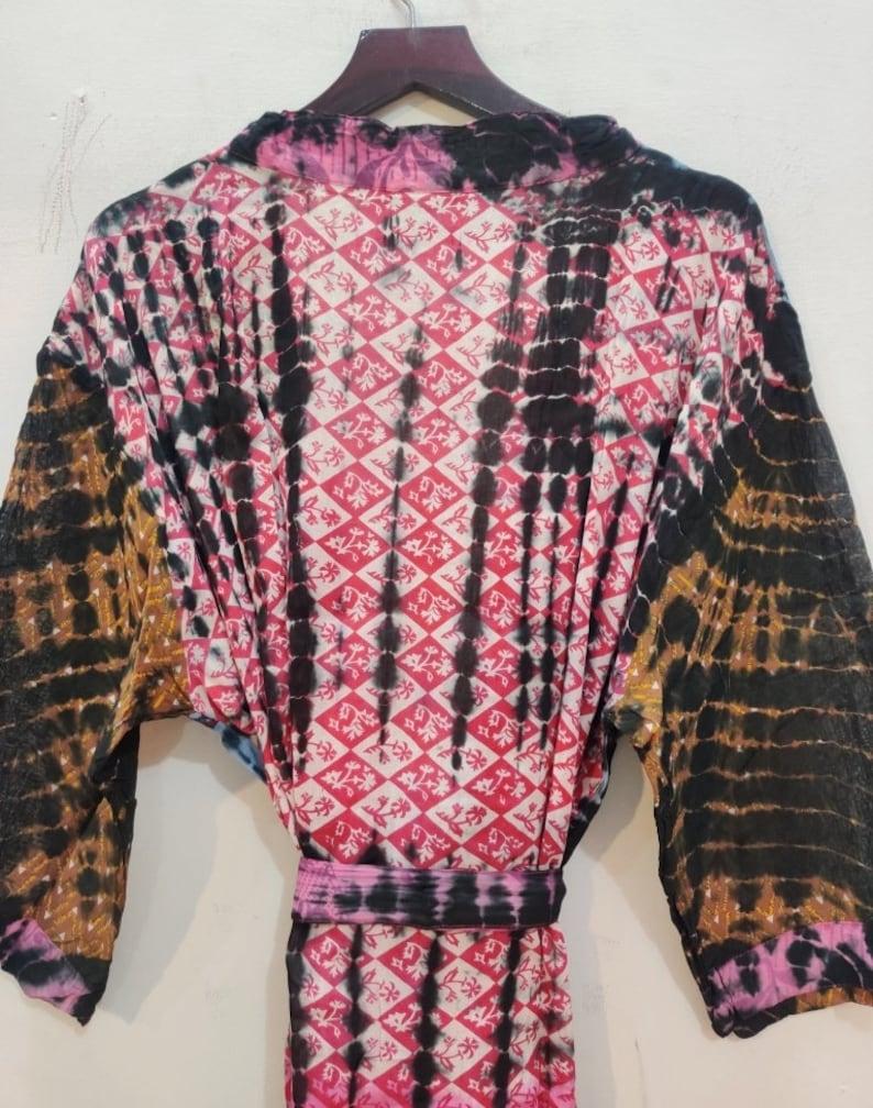 Festival Clothing Women/'s robe # TIC 46 Pure cotton Kimono Tie Dye Kimono Robes Oriental Kimono Tie Dye Kimono Kaftan Cotton Kimono