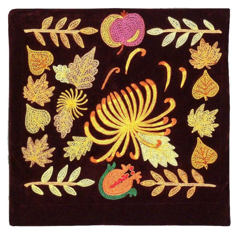 Colorful Uzbekistan Suzani Decorative Pillow Case Cover Cushion Silk embroidery 167