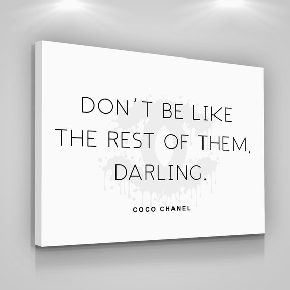 Coco Chanel Quotes Canvas Print Love Yourself Home Wall Decor Etsy Delectable Love Quotes On Canvas