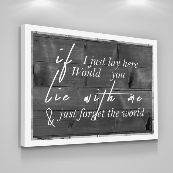 Love Quote Canvas Print Bedroom Couple Love Rustic Home Wall Etsy