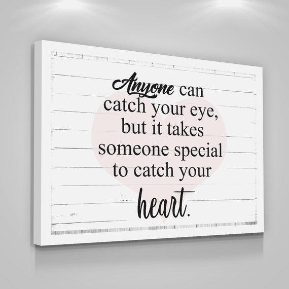 Heart Love Quote Canvas Print Couple Home Wall Decor Rustic Etsy Unique Love Quotes On Canvas