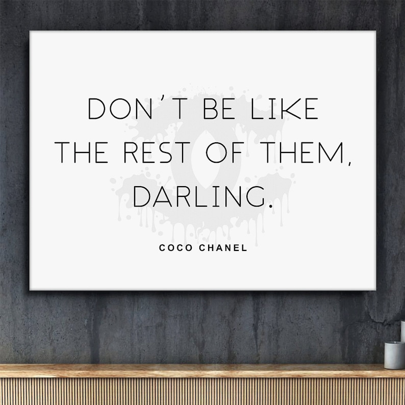 59d5a347c58f Coco Chanel Quotes Canvas Print Love Yourself Home Wall Decor