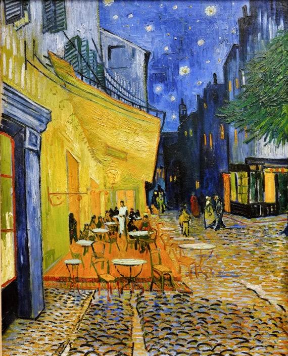 Vincent Van Gogh Cafe Terrasse In Der Nacht Leinwand Kunst Etsy