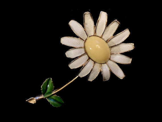 Rare 50s 60s Vintage Signed WEISS Flower Power Dai