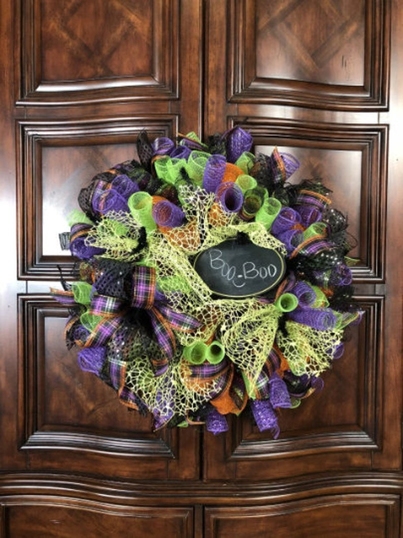 Halloween Door Wreath Decor Halloween Door Decoration Etsy
