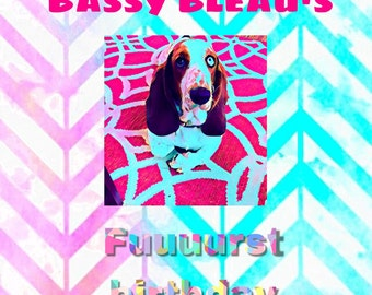 Digital dog pawty invitations custom made