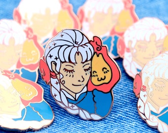 Pre-order: Sophie and Calcifer Starlight Enamel Pin