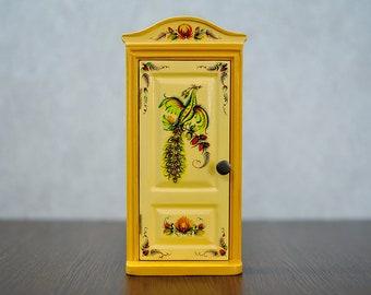 Petrykivka decorative painting, Miniature door, Wooden door, Opening door, Fairy door, Magical door,  Ukraine, Gift for her, Fairy garden