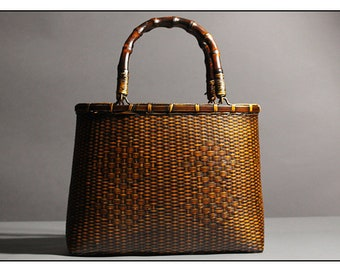 c293f48a881 Vintage Bamboo Handbag
