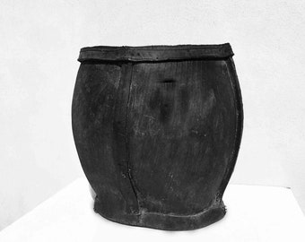 Recycled rubber vessel.
