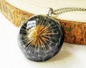 Dandelion necklace resin, Dried dandelion flower necklace, Fantasy Necklace, Wish Necklace Magical Necklace Unique gift idea Fantasy jewelry