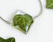 Real leaf bracelet, Ivy leaf bracelet, Resin leaf jewelry, Green leaf bracelet, Ivy jewelry, Nature bracelet Real plant jewelry Gift for her