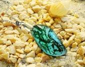 Real moss necklace, Moss terrarium necklace, Blue teardrop necklace, Moss jewelry Aquamarine jewelry Moss resin necklace Water drop necklace