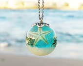 Nautical necklace, Beach wedding necklace, Real starfish necklace, Sea shells necklace, Beach lover gift for women, Destination wedding gift