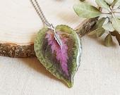 Long leaf necklace, Dried leaf necklace, Boho chic necklace, Long boho necklace, Tribal boho necklace, Bohemian jewelry Boho chic gifts