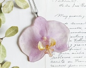 Orchid Flower Necklace, Real orchid jewelry, Phalaenopsis orchid necklace, Orchid flower jewelry, Tropical flower necklace, Gift for mother