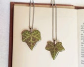 Botanical pendant, Real ivy leaf necklace, Biology jewelry, Botanical jewelry, Biology teacher gift, Stainless steel chain, Botanical gifts