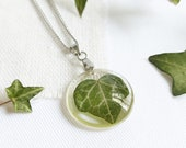 Nature inspired necklace, Real Ivy leaf pendant, Birthday gifts for daughter, Nature jewellery, Special gift for daughter, Nature pendant
