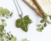 Leaf necklace, Pressed leaf resin necklace, Nature lover necklace, Nature necklaces for women, Gift for nature lover, Dried plant jewelry