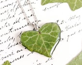 Real leaf necklace, Special gift for woman, Botanical necklace, Nature lover jewelry, Pressed leaf necklace, Romantic jewelry Leaf jewelry