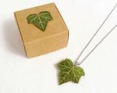 Ivy leaf necklace, Real leaf necklace, Ivy jewelry, Botanical jewelry, Forest necklace, Real ivy necklace, Nature necklace, Woodland Jewelry