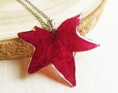 Maple Leaf Necklace, Real maple leaf necklace, Autumn leaf necklace, Leaf resin necklace, Red leaf necklace, Maple leaf jewelry Gift for her