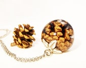 Pinecone necklace, Real pinecone necklace, Fall necklace, Nature inspired jewelry, Woodland necklace, Pine tree necklace, Natural jewelry
