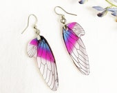 Dragonfly wings earrings, Resin earrings, Fairy wing earrings, Magical earrings, Butterfly wings earrings,  Fantasy earrings, Resin jewerly