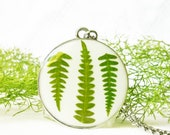 Nature inspired Necklace, Pressed fern necklace, Terrarium jewelry, Fairy garden jewelry, Nature gifts, Real fern necklace, Nature jewelry