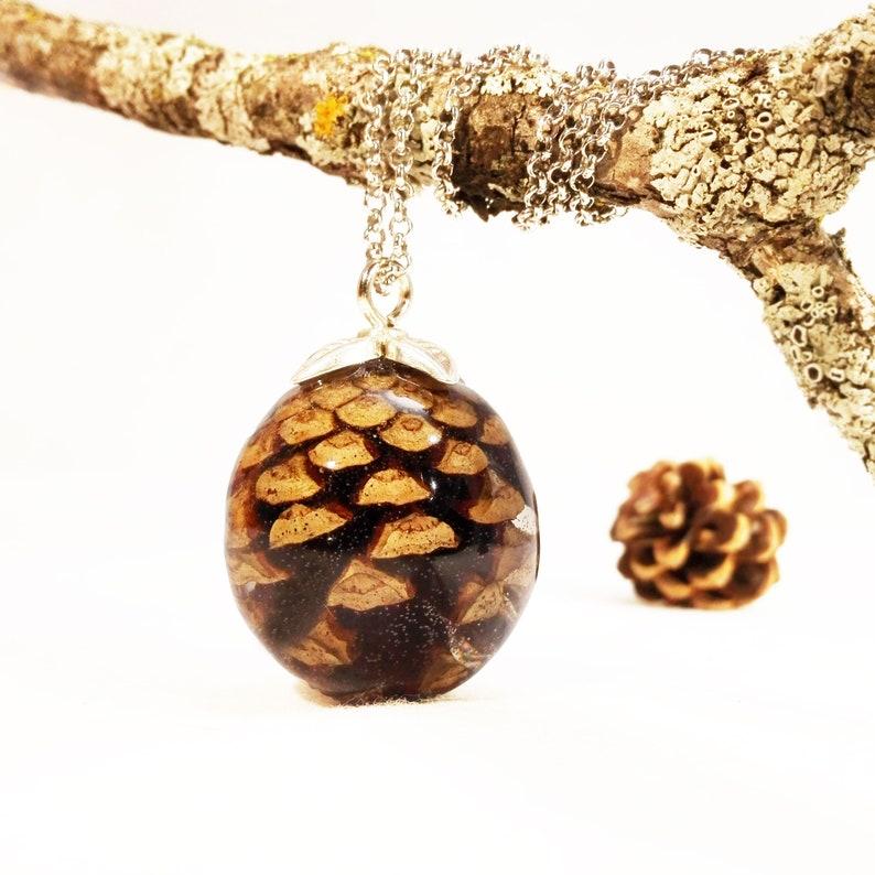 Naturschmuck - Kiefer Kegel Halskette