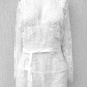 lace robe wedding robe robe lingerie wedding day bridesmaids robe fashionluxe satin robe laceluxuryfashion design black lingerie