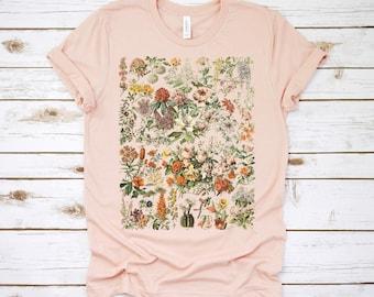 ac8255e6342 botanical shirt, vintage t-shirt, flower t-shirt, tee, vintage botanical,  botanical print, vintage flower shirt, graphic tshirt, wildflower