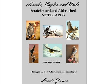 Hawks and Owls note cards