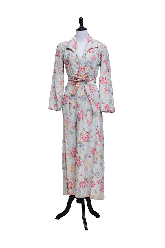 1950's Floral Quilted Robe