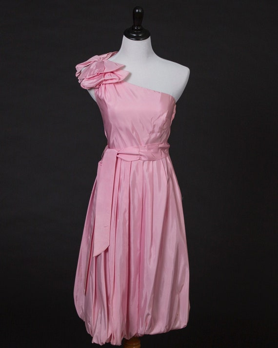 1980's Taffeta Off Shoulder Dress