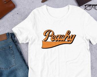 188e3da5ca76 Peachy T-Shirt, Retro Shirt, 70s Shirt, Peachy Shirt, Vegetarian T-Shirt, Vintage  Shirt, Summer Shirt VC568