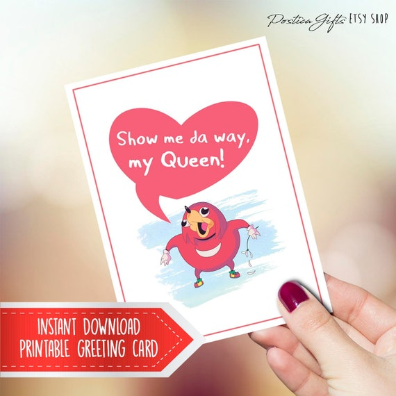 Uganda Knuckles Gift For Her Printable Romantic Card Ugandan Etsy