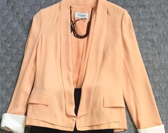 Peach georgette blazer