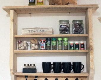 Wall Spice rack Wall shelf kitchen wood